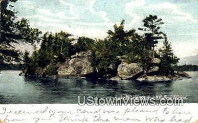 Rock Island - Lake Winnipesaukee, New Hampshire NH Postcard