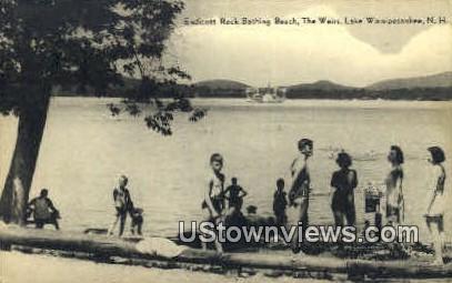 Endicott Rock Bathing Beach - Lake Winnipesaukee, New Hampshire NH Postcard