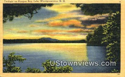 Paugus Bay - Lake Winnipesaukee, New Hampshire NH Postcard