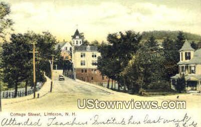 Cottage St. - Littleton, New Hampshire NH Postcard