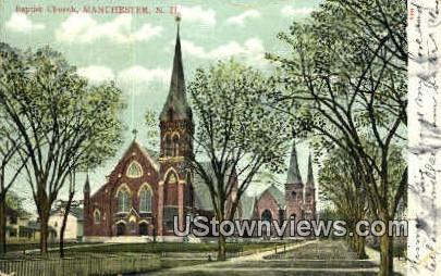 Baptist Church - Manchester, New Hampshire NH Postcard