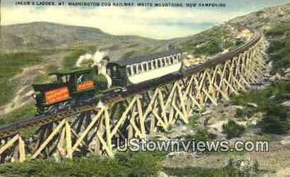 Mt. Washington Cog Railway - White Mountains, New Hampshire NH Postcard