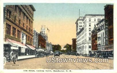 Elm St. - Manchester, New Hampshire NH Postcard