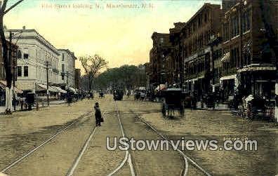 Elm St. - Manchester, New Hampshire NH Postcard