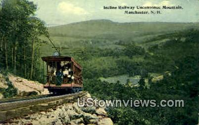 Incline Railway - Manchester, New Hampshire NH Postcard