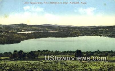 Lake Waukewan - Meridith, New Hampshire NH Postcard