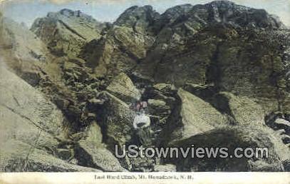 Last Hard Climb - Monadnock Mountain, New Hampshire NH Postcard