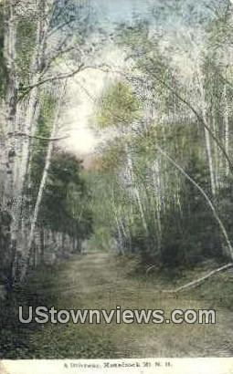 A Driveway - Monadnock Mountain, New Hampshire NH Postcard