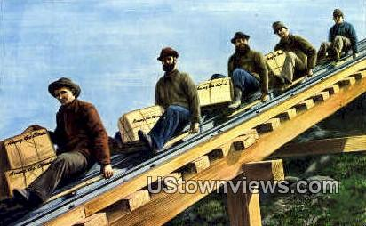 5 Hardy Workmen - Mount Washington, New Hampshire NH Postcard
