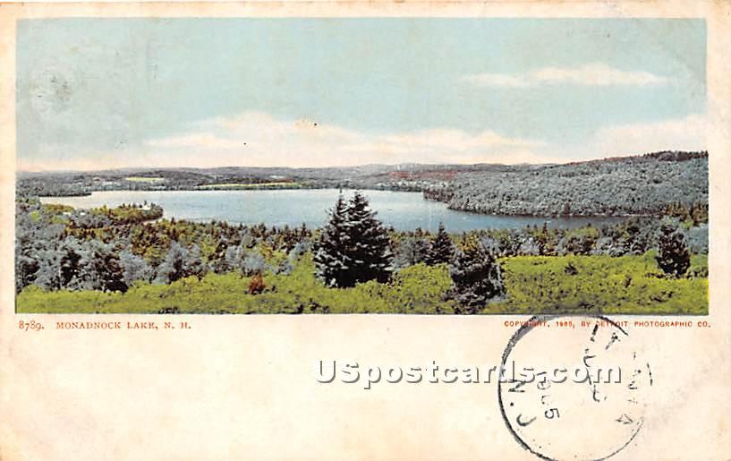 Lake View - Monadnock Lake, New Hampshire NH Postcard