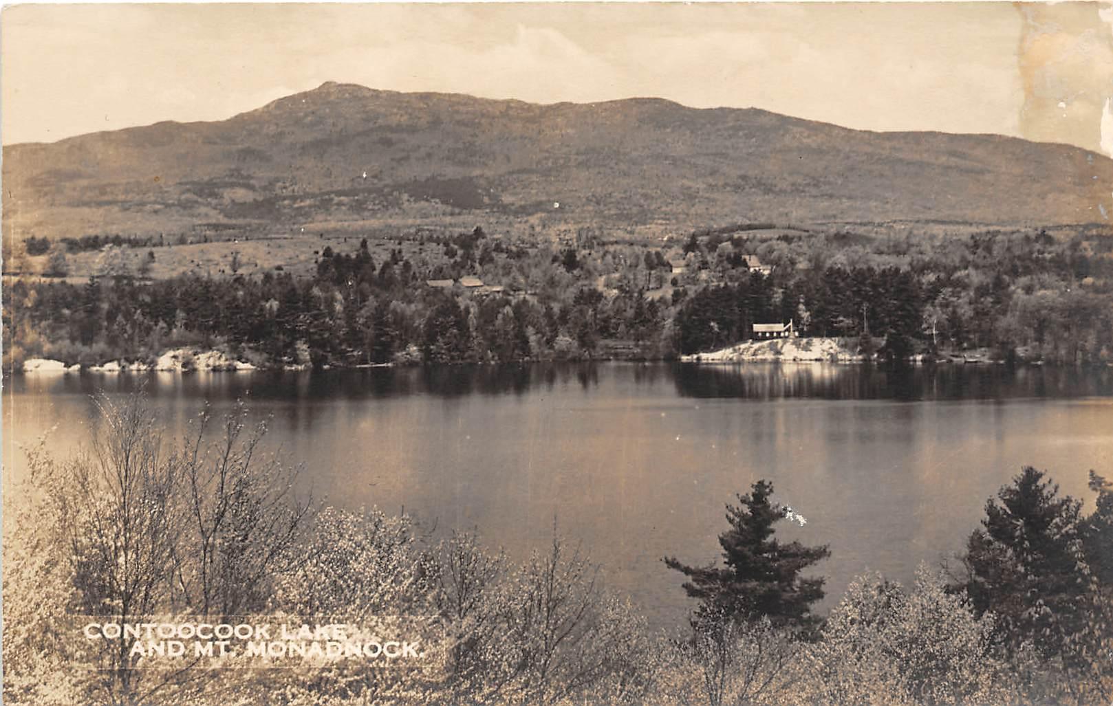 Contoocook Lake - Mount Monadnock, New Hampshire NH Postcard