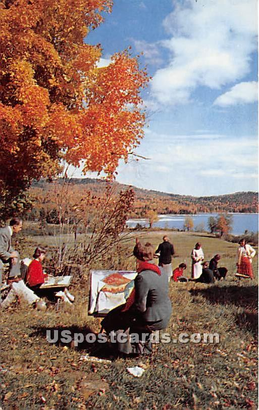 Outdoor Art Class at Colby Junior College - Misc, New Hampshire NH Postcard