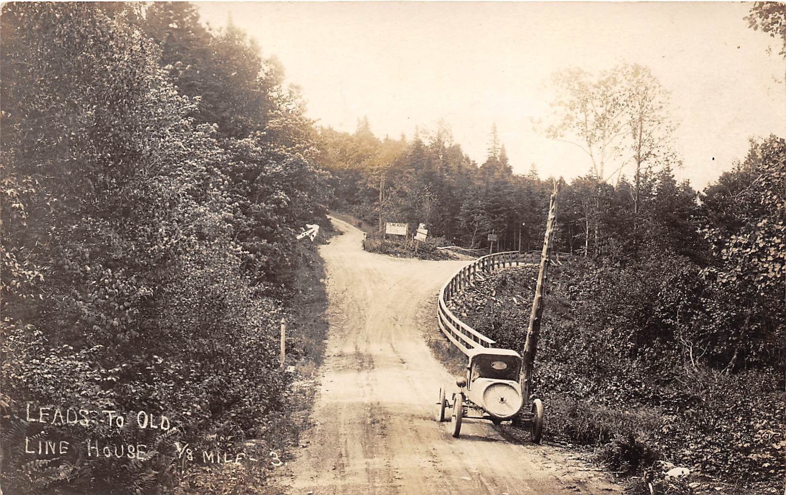 Leads to Old Line House - Misc, New Hampshire NH Postcard