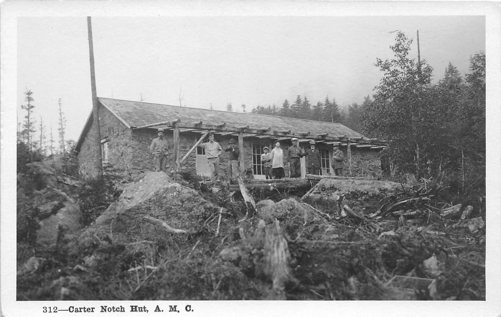 Carther Notch Hut - Misc, New Hampshire NH Postcard