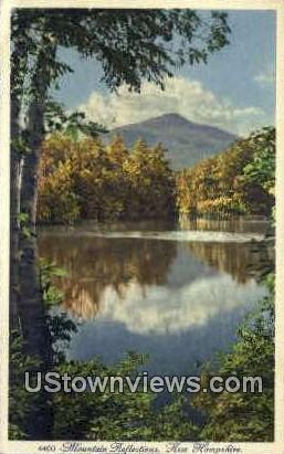 Mountain Reflections - Misc, New Hampshire NH Postcard