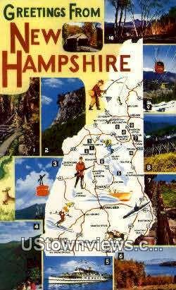 Greetings from - Misc, New Hampshire NH Postcard