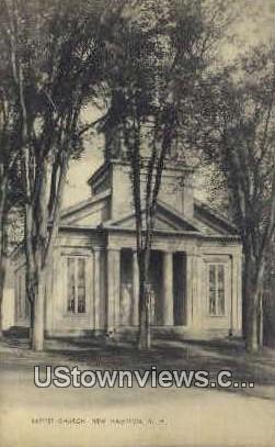 Baptist Church - New Hampton, New Hampshire NH Postcard