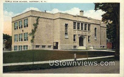 Towle High School - Newport, New Hampshire NH Postcard
