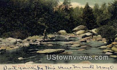 South Branch, Sugar River - Newport, New Hampshire NH Postcard