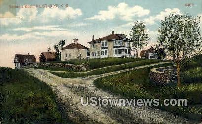 Summit Road - Newport, New Hampshire NH Postcard