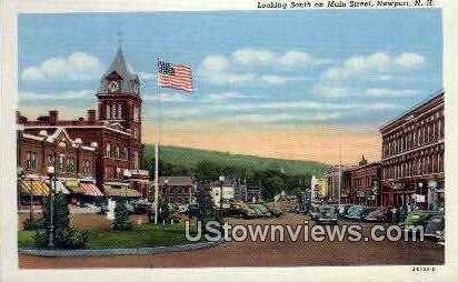 Main St. - Newport, New Hampshire NH Postcard