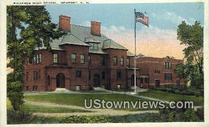 Richards High School - Newport, New Hampshire NH Postcard