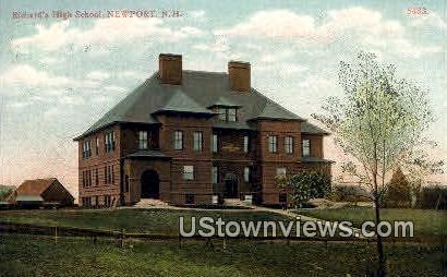 Richard's High School - Newport, New Hampshire NH Postcard