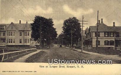 Sunapee St. - Newport, New Hampshire NH Postcard