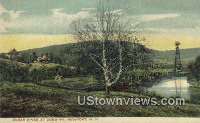 Sugar River, Corbin's  - Newport, New Hampshire NH Postcard