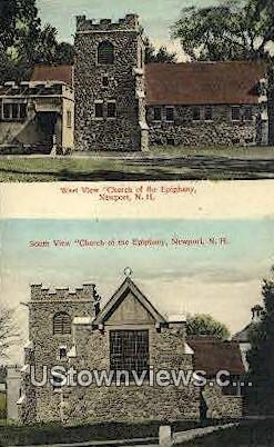 Church of the Epiphany - Newport, New Hampshire NH Postcard