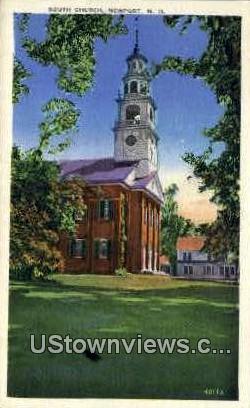 South Church - Newport, New Hampshire NH Postcard