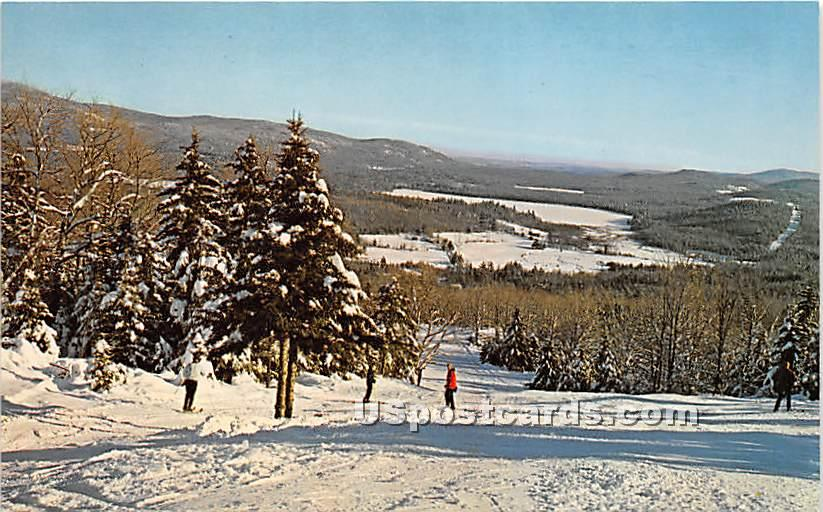 King Ridge Ski Area - New London, New Hampshire NH Postcard