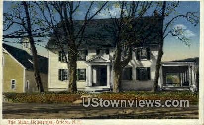 The Mann Homestead - Orford, New Hampshire NH Postcard
