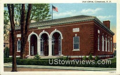Post Office - Claremont, New Hampshire NH Postcard