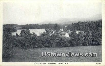 Lake Wicwas - Meredith Center, New Hampshire NH Postcard