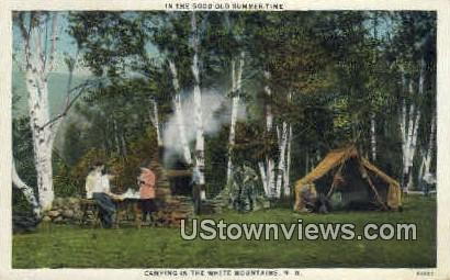 Camping - White Mountains, New Hampshire NH Postcard