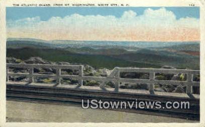 Atlantic Ocean - White Mountains, New Hampshire NH Postcard