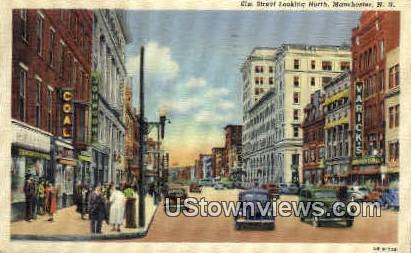 Elm Street - Manchester, New Hampshire NH Postcard