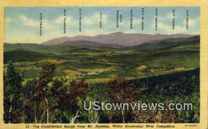 Presidential Range, Mt Agassiz - White Mountains, New Hampshire NH Postcard