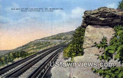 Old Man of the Cog Railway - White Mountains, New Hampshire NH Postcard