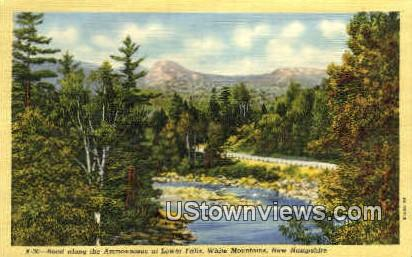 Ammonoosuc, Lower Falls - White Mountains, New Hampshire NH Postcard