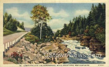 Lower Falls, Ammonoosuc - White Mountains, New Hampshire NH Postcard