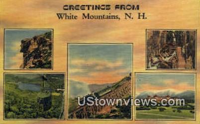 White Mountains, NH    ;      White Mountains, New Hampshire Postcard