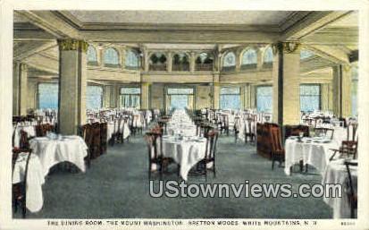 Dining Room, Mount Washington - White Mountains, New Hampshire NH Postcard