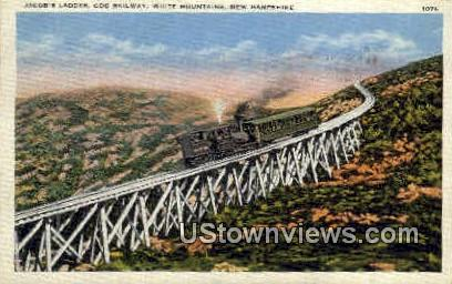 Jacob's Ladder, Cog Railway - White Mountains, New Hampshire NH Postcard
