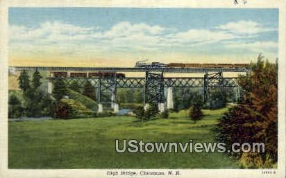 High Bridge - Claremont, New Hampshire NH Postcard