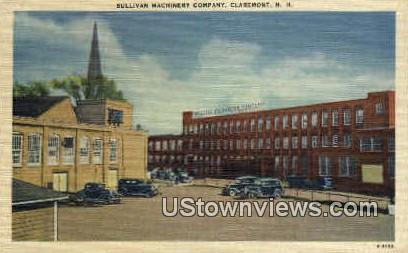 Sullivan Machinery Co - Claremont, New Hampshire NH Postcard