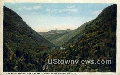 Crawford Notch, Elephant's Head - White Mountains, New Hampshire NH Postcard