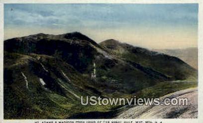 Mt Adams & Madison - White Mountains, New Hampshire NH Postcard