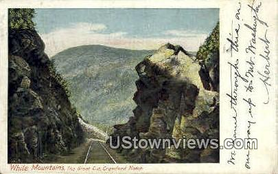 Great Cut, Crawford Notch - White Mountains, New Hampshire NH Postcard